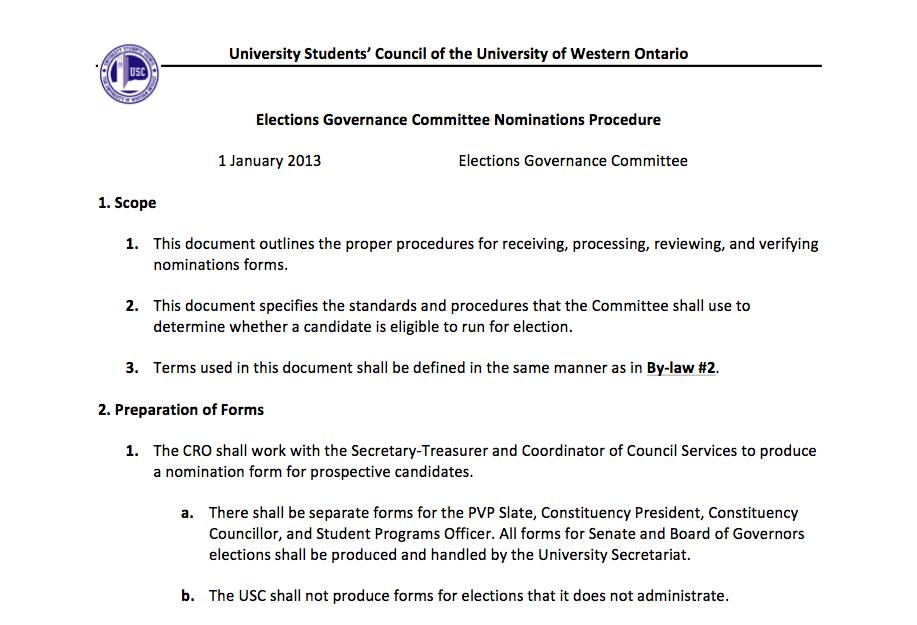 EGC Nomination Procedure