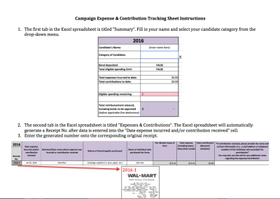Expense & Contribution Tracking Instructions