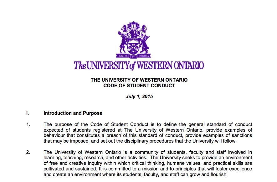 UWO Code of Student Conduct