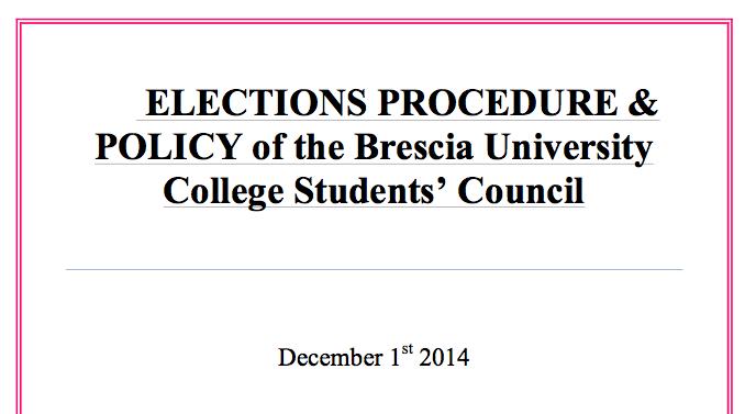 Brescia's Elections Procedure