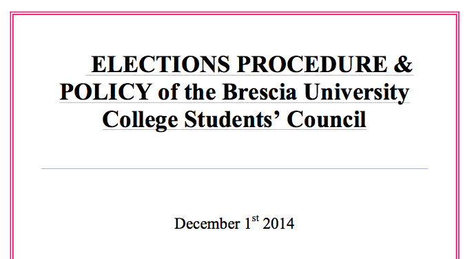 Brescia's Elections Procedure