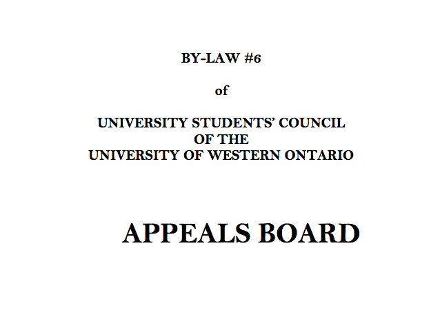 By-Law #6 – Appeals Procedure