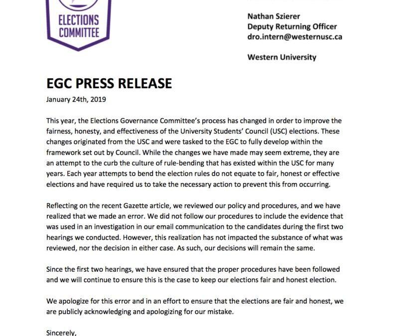 ECG Press Release 2019