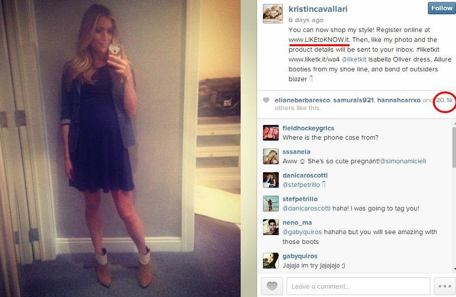 kristincavallari on Instagramlike