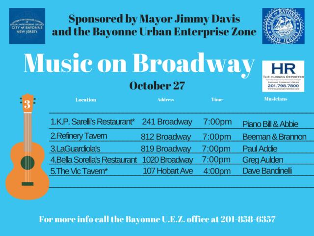 Music Broadway Bayonne OCT. 27 2017