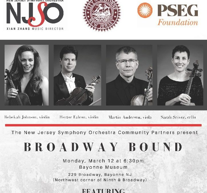 Members of The New Jersey Symphony Orchestra Perfoming on March 12, at 6:30 p.m.