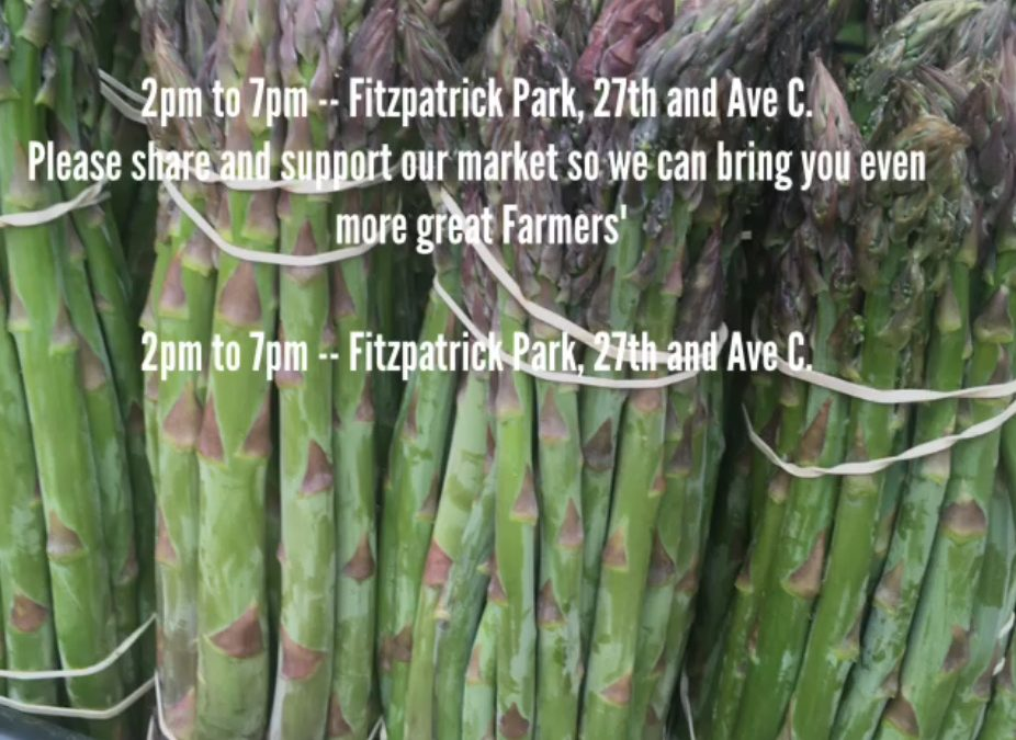2019 Farmer's Market Every Tuesday @ Fitzpatrick Park, 2-7pm