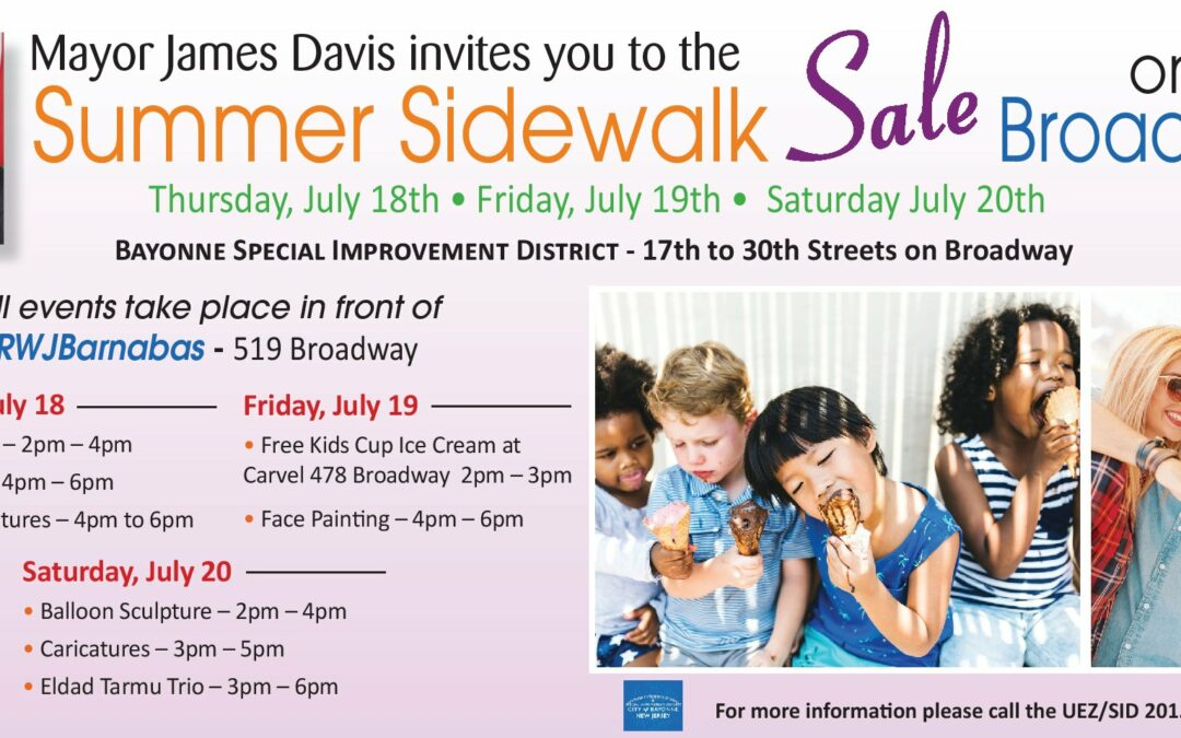 Summer Sidewalk Sale on Broadway