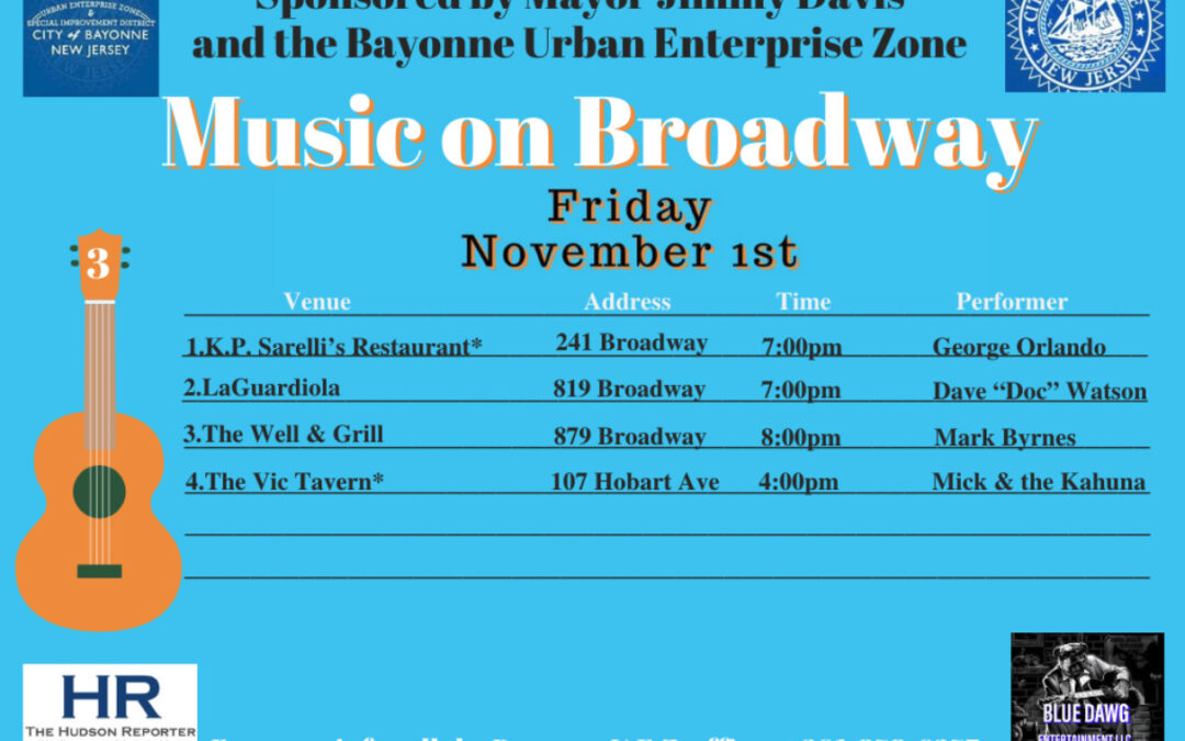 Music on Broadway – Friday, November 1, 2019