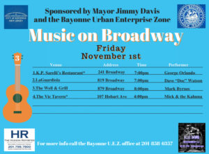 Music on Broadway - Friday, November 1, 2019
