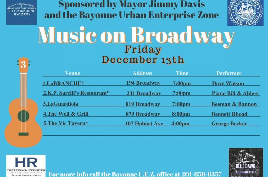 Music on Broadway – Friday, December 13, 2019