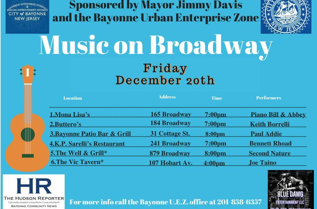 Music on Broadway – Friday, December 20, 2019