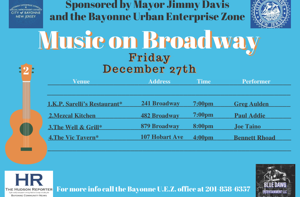 Music on Broadway – Friday, December 27, 2019