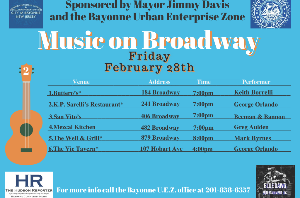 Music on Broadway – Friday, February 28, 2020