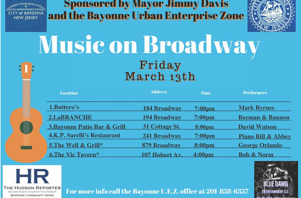 Music on Broadway – Friday, March 13, 2020