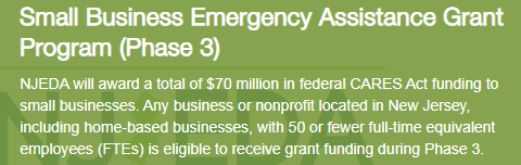 PRE-REGISTER NOW – New NJEDA Grants for Businesses Impacted by COVID-19