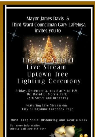 Bayonne 'S 3rd Ward Christmas Tree Lighting Friday, December 4, 2020