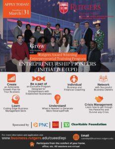 Rutgers Award-Winning Entrepreneurship Training Programs