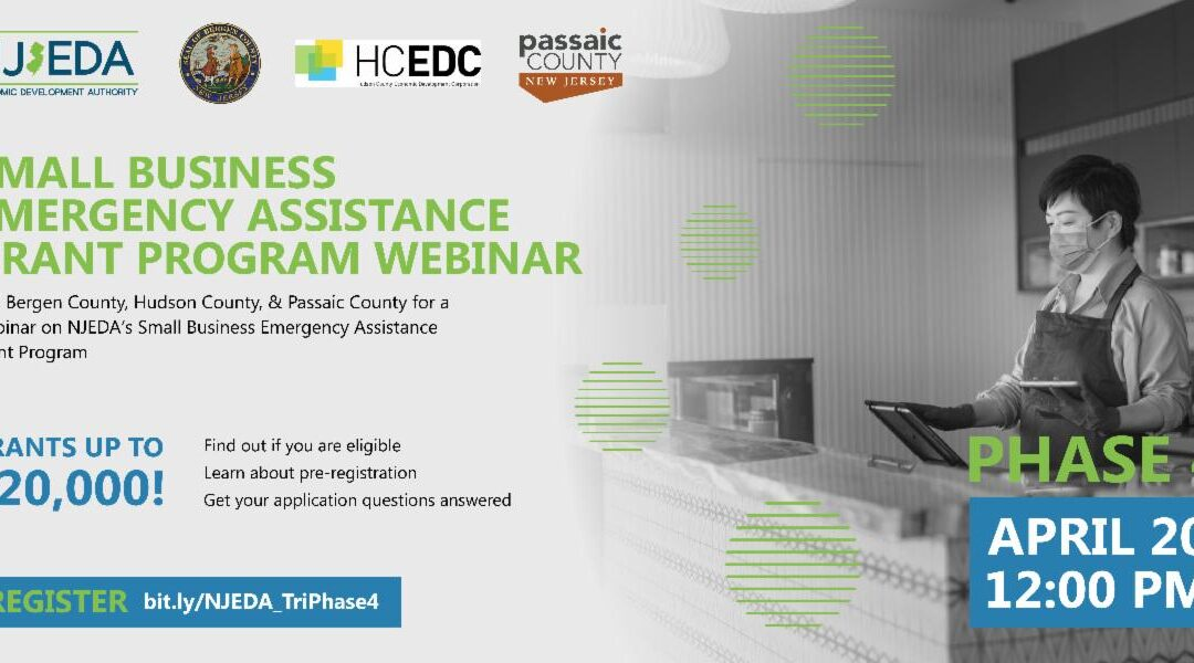 NJEDA Phase 4 Grants Webinar Today