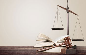 Checks and Balances Scale With Book and Gavel