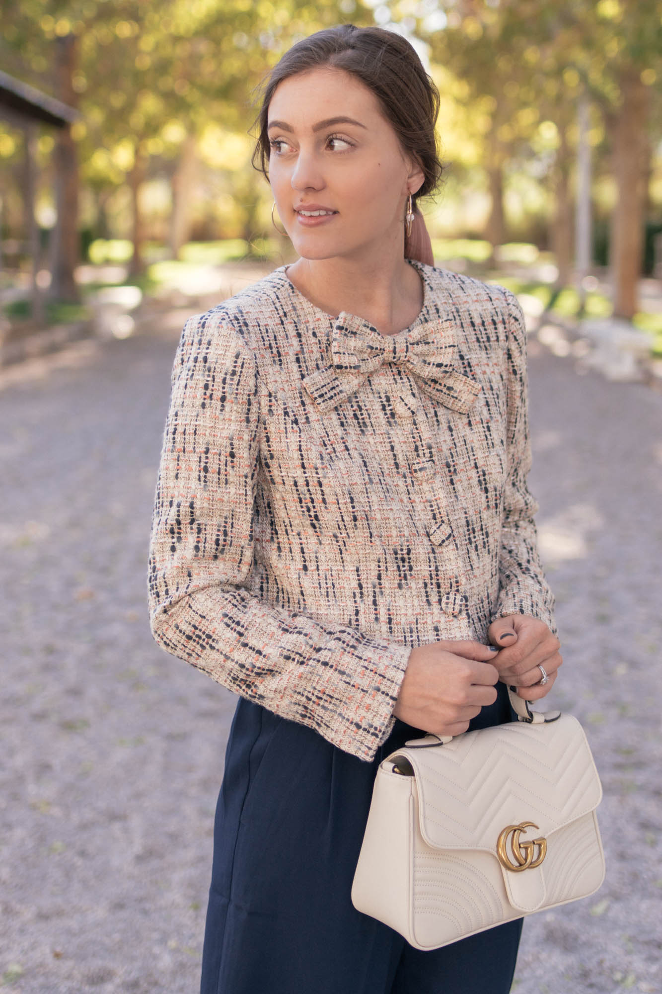 Ultra Feminine in Tweed - www.HaleighHall.com