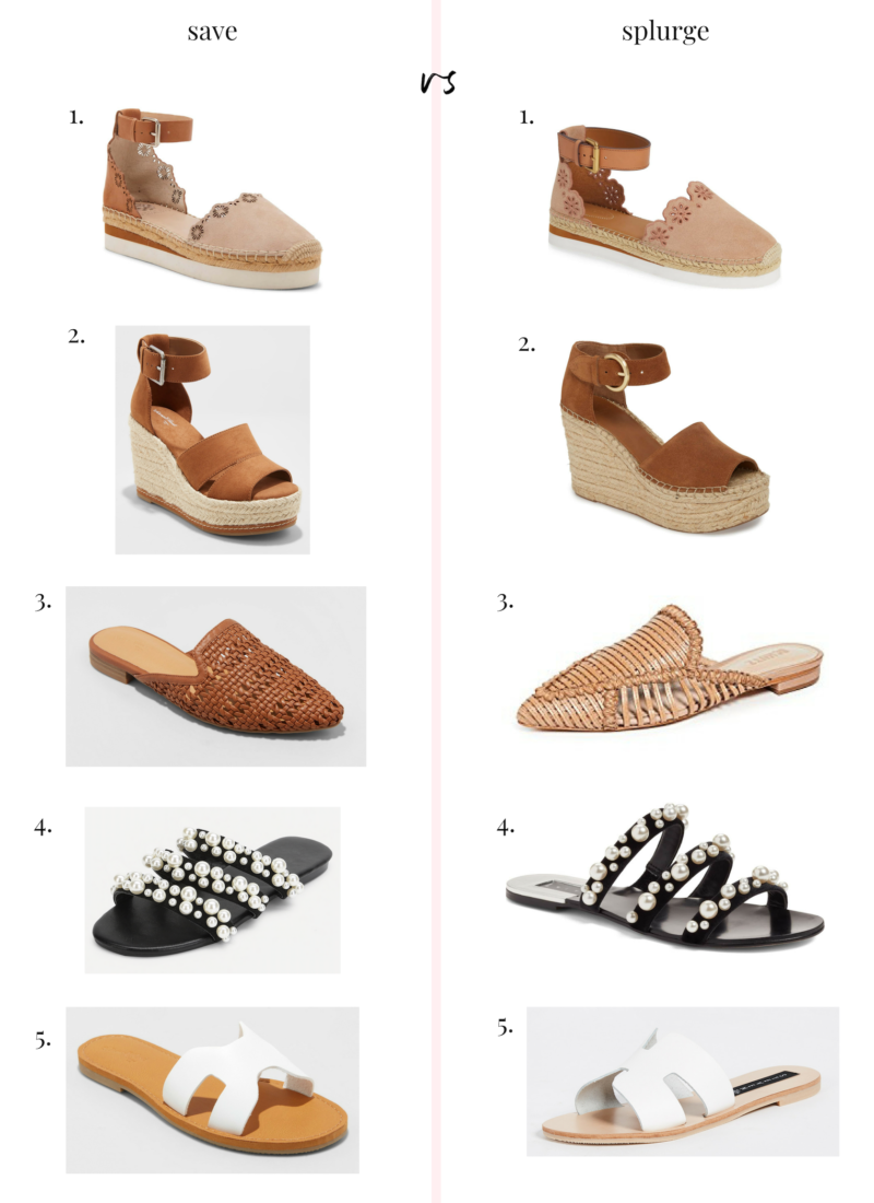 Save vs. Splurge: Spring Shoe Edition