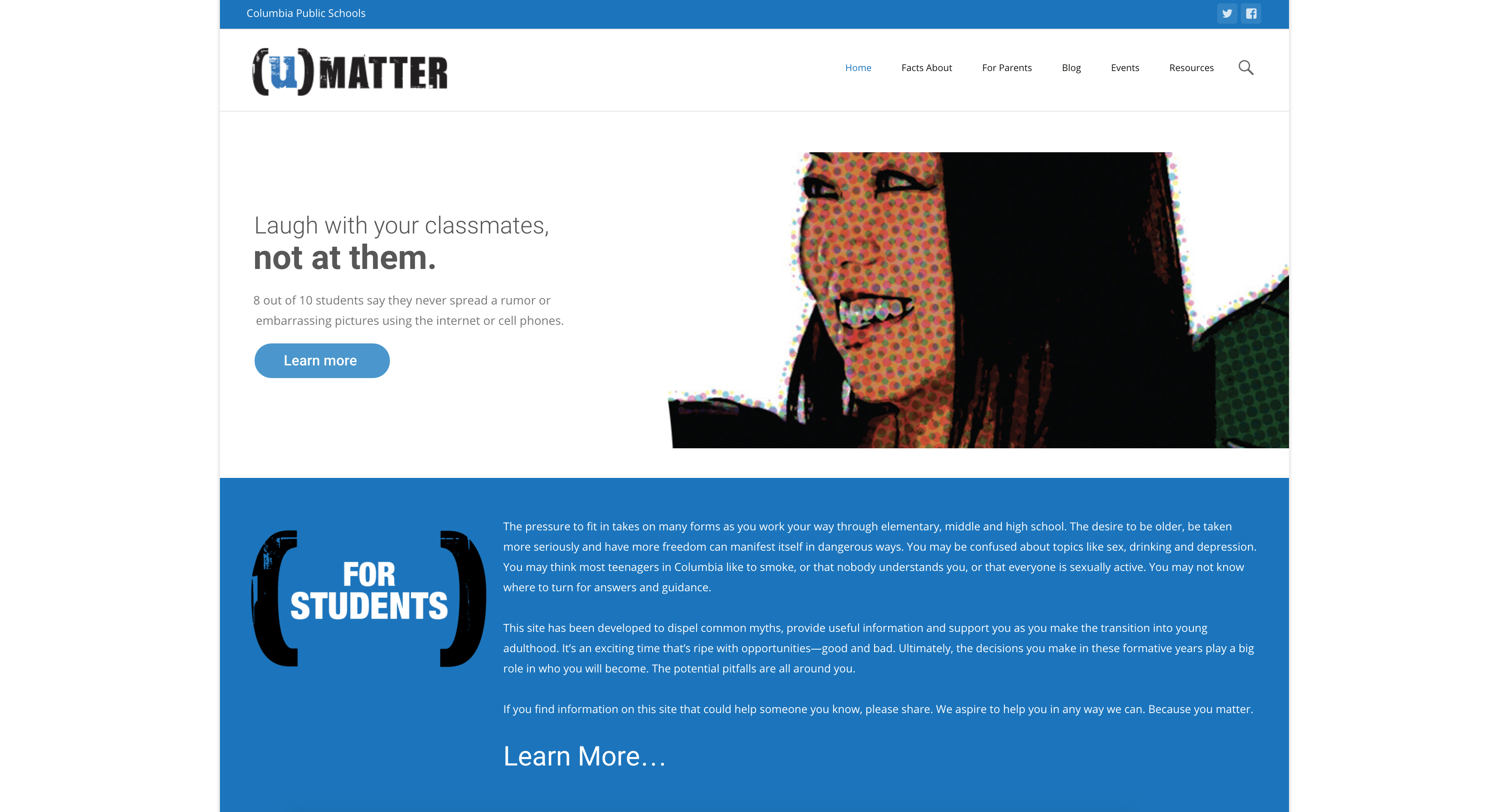 Columbia Public Schools reveals refreshed (u)Matter site
