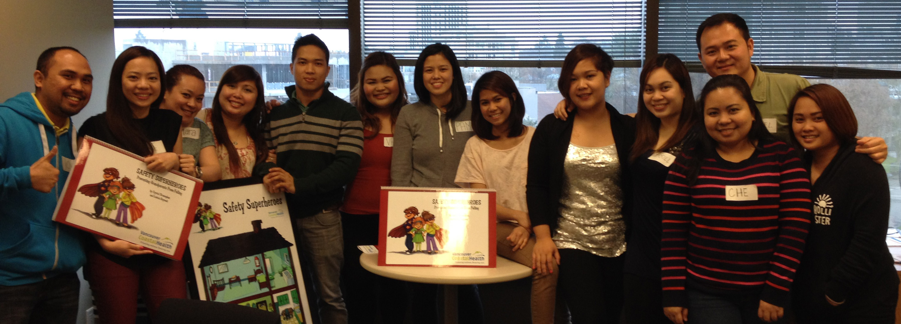 A new batch of Safety Superheroes volunteers in Richmond, BC
