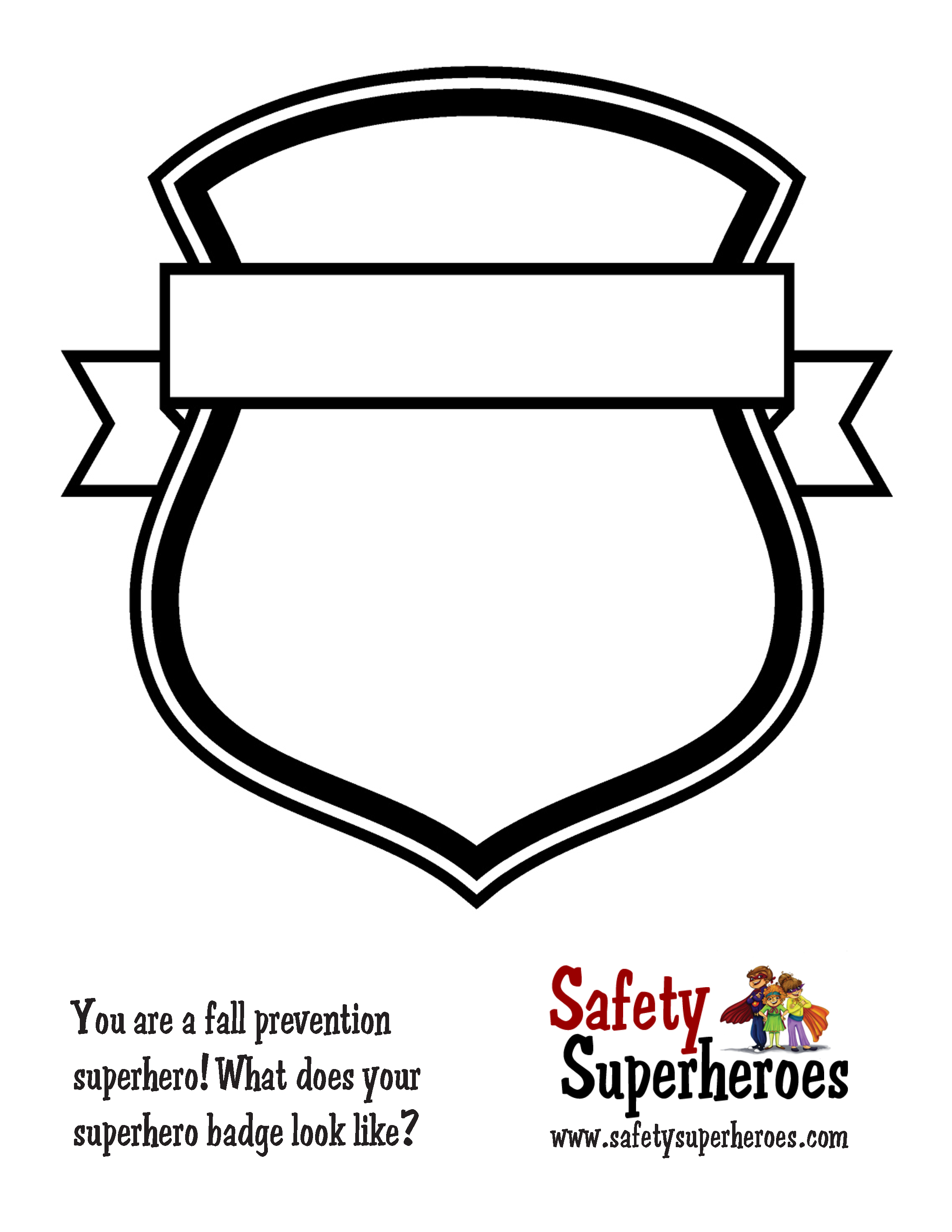 New activity – Safety Superheroes Badges!