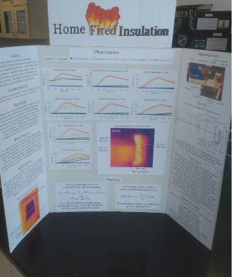 A trifold with the words 'home fired insulation' across the top