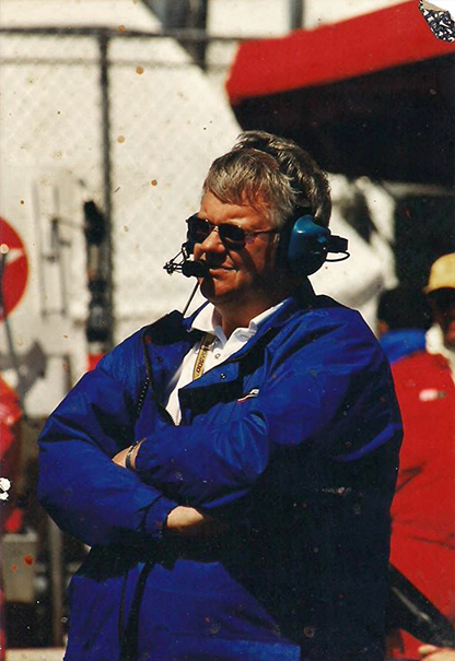 Terry Dale at race track