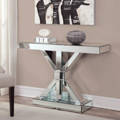 Silver Console Table