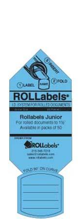 Blueprint ID tags - blue junior label