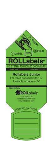 Blueprint ID tags - green junior label