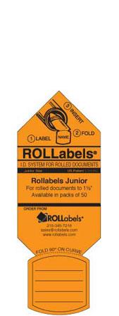 Blueprint ID tags - Orange Junior Label