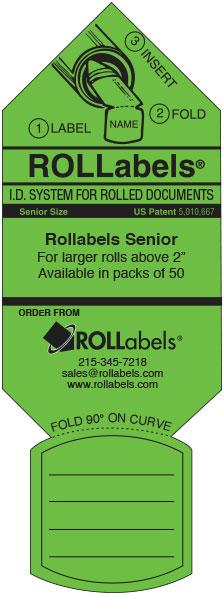 Rollabels green senior label