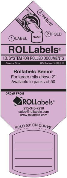 Rollabels lavender senior label
