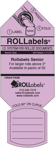 Blueprint ID tags - lavender senior label