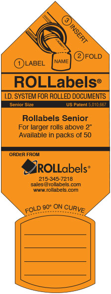 Rollabels orange senior label