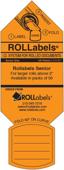Rollabels orange senior label