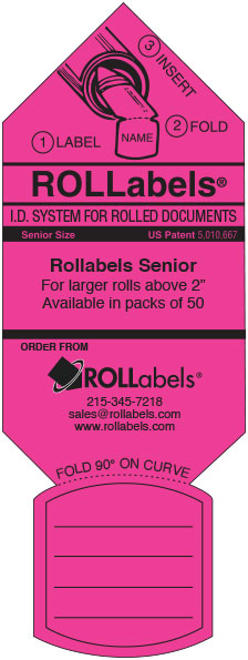 Rollabels pink senior label
