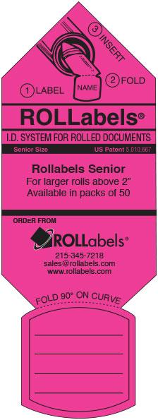 Blueprint ID tags - pink senior label