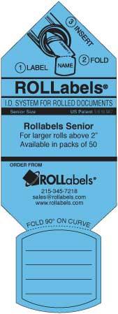 Blueprint ID tags - senior blue label