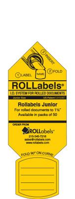 Blueprint ID tags - Junior Yellow label