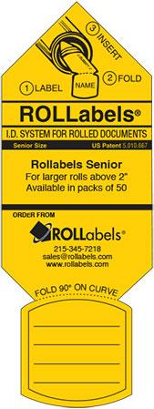 Blueprint ID tags - Senior Yellow label