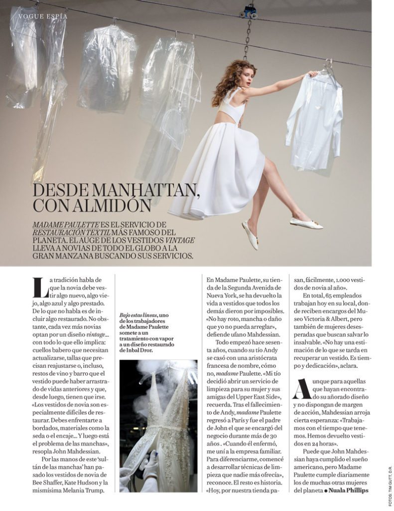 Madame Paulette Vogue Spain Article - From Manhattan, With Starch