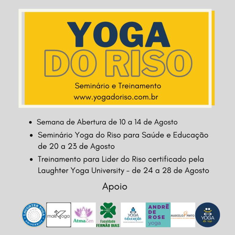 Yoga do Riso seminario e treinamento 2020