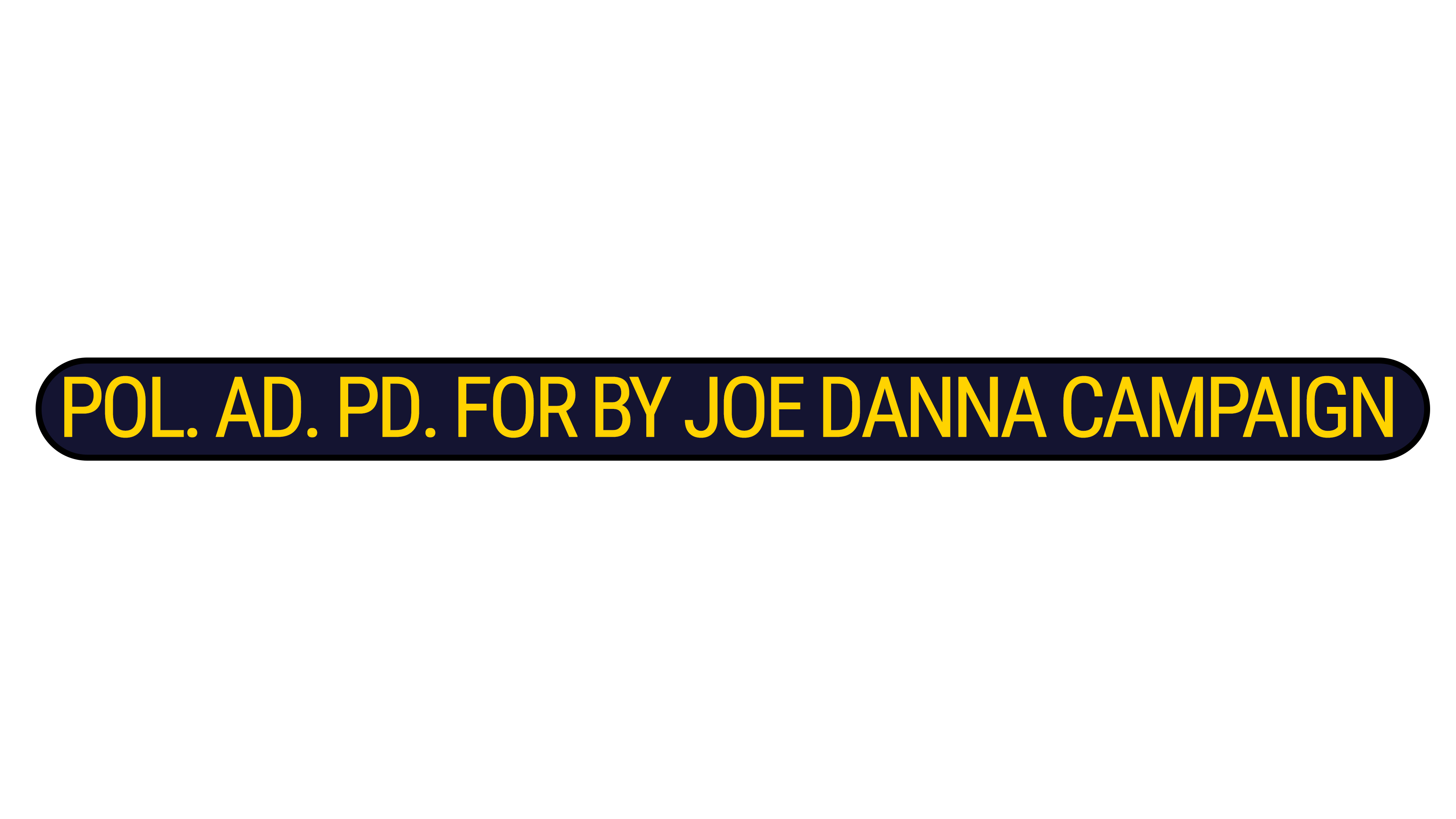 Joe Danna for Sheriff