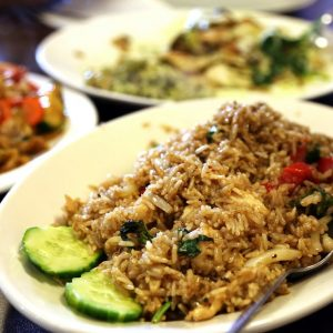 Spicy Thai Basil Fried rice. The best Fried rice ever!