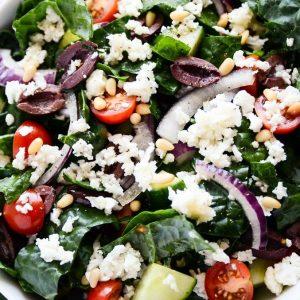 Greek salad in Thai restaurant.
